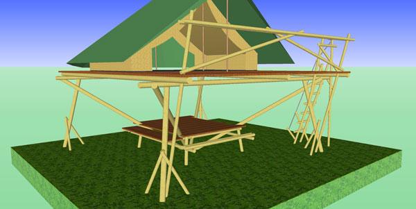 La tenda sopraelevata
