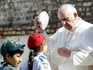 Il Papa con gli Scout