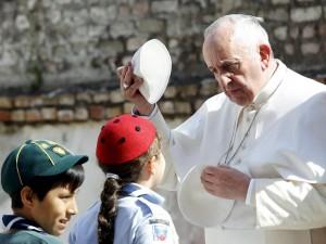 Papa Francesco al Roma 5