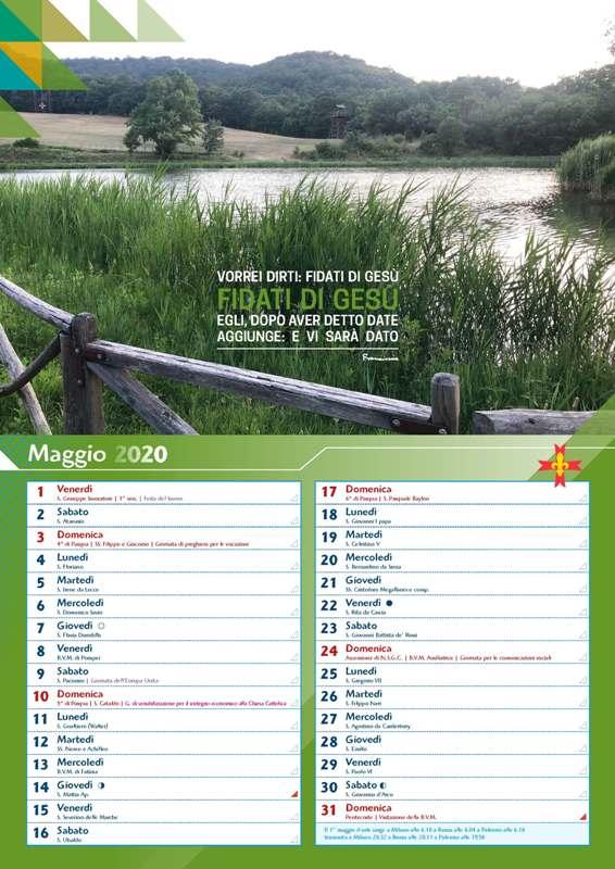 Calendario scout 2020   Associazione Italiana Guide e Scouts d